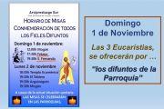 Horario de Misas y Cementerios para el Días de Los Difuntos en San Bartolomé de Tirajana